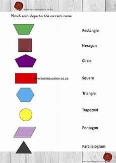 shapes pattern worksheets for grade 1 1234 matching 2 d shapes names grade 3 maths www besteducation co za 3rd grade math math workbook