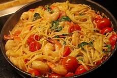 spaghetti mit garnelen spaghetti mit garnelen in sahneso 223 e rezept mit bild