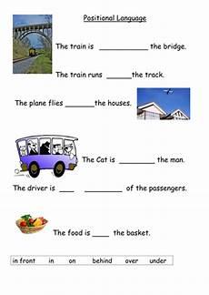 positional language worksheet teaching resources