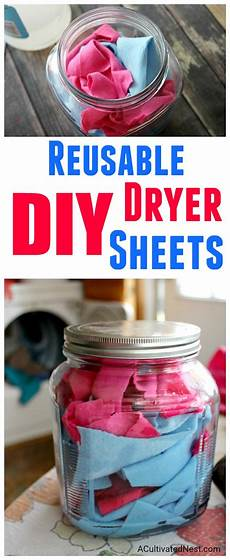 reusable homemade dryer sheets a cultivated nest