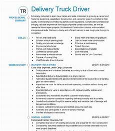 delivery truck driver resume sle driver resumes
