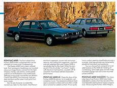 free car manuals to download 1984 pontiac 6000 electronic valve timing 1984 pontiac 6000 brochure canadian