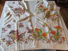 Kitchen Linens And Decor by Vintage Merry Retro 70 S Kitchen Cafe Curtains 5