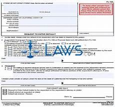 form fl 165 request to enter default california forms laws com