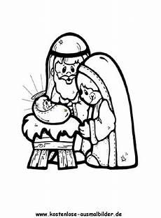 weihnachtskrippe weihnachten ausmalen malvorlagen