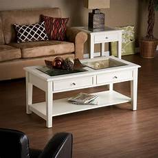amazon com southern enterprises valley cocktail table white coffee tables
