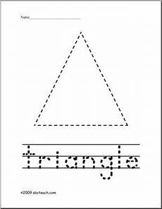 trace and color shape triangle abcteach