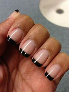 shellac black french manicure french manicure nails