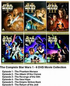 wars complete collection dvd set episode part 1 2 3 4