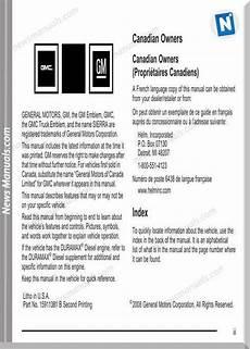 download car manuals pdf free 2008 gmc sierra 1500 free book repair manuals gmc sierra owners manual model year 2009