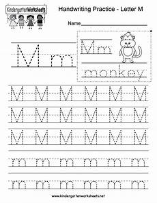 letter m writing practice worksheet free kindergarten english worksheet for kids