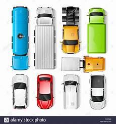 fahrzeug mit planen cars top view stock vector illustration vector