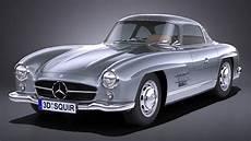 Mercedes 300 Sl - lowpoly mercedes 300 sl gullwing 1954