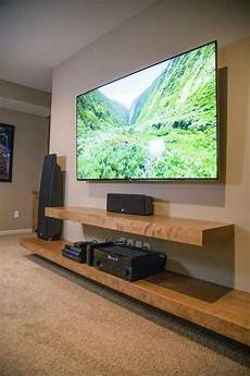 wall mounted media shelves thick wood entertainment unit