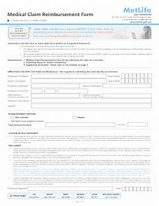 fillable online in patient medical reimbursement claim form metlife bahrain fax email print