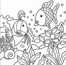 ausmalbilder malvorlagen der regenbogenfisch kostenlos