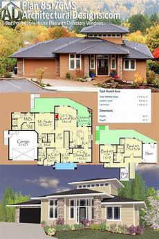 clerestory house plans plan 85176ms 3 bed prairie style house plan with