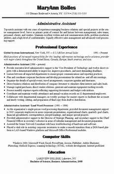 administrative assistant resume exle sle