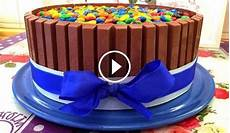 kitkat torte mit smarties m ms ganz leicht selber machen