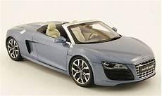 audi r8 bleu audi r8 spyder miniature grise bleu kyosho 1 18 voiture