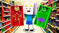 Malvorlagen Superhelden Kaufen Wir Kaufen Superhelden Figuren In Minecraft