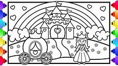 princess castle coloring page learn to draw a princess