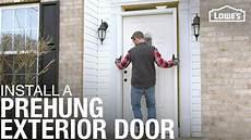 how to install a prehung exterior door youtube