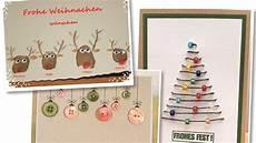 zwanzig einfache weihnachtskarten zum basteln