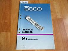 service and repair manuals 1993 saab 9000 seat position control 1986 saab 9000 accessories service manual ebay
