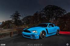 grabber blue ford mustang boss 302 gets ccw classic wheels