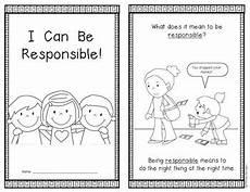 i can be responsible social studies emergent reader kindergarten first grade