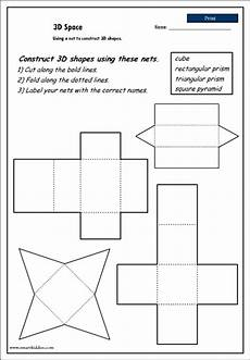 geometry nets worksheets 823 11 best images of 3d shape nets worksheet classifying 3d shapes worksheet printable 3d nets