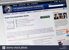 us immigration support website usa green card lottery application 35835080 alamy