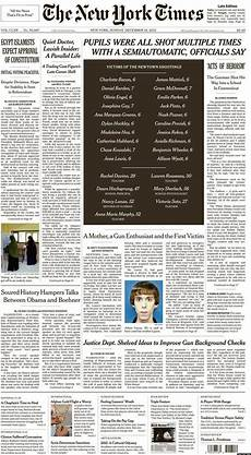 Malvorlagen New York Times New York Times Other News Outlets Run Newtown Shooting