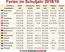 Schulferien Italien 2018 - ferien im schuljahr 2018 19 in deutschland alle bundesl 228 nder