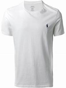 lyst polo ralph crew neck t shirt in white for