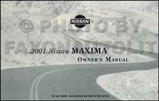 auto repair manual online 2001 nissan maxima security system 2001 nissan maxima owner s manual original