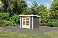 woodfeeling karibu holz gartenhaus kandern 3 in terragrau