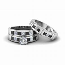 wedding ring sets his and hers white gold engagement