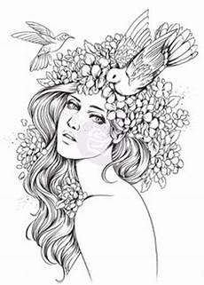 Malvorlagen Jugendstil Easy Pin By Yooper On Color Hair Coloring Pages Bff