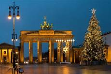 at the brandenburg gate in berlin germany stock