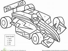 coloring book pages vehicles 16424 color by number race car with images race car coloring pages cars coloring pages color by