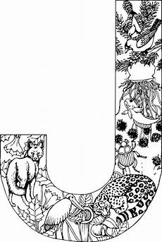 animal letter pages coloring pages