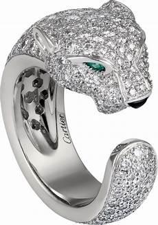 bague jaguar cartier crn4225200 bague panth 232 re de cartier or gris diamants
