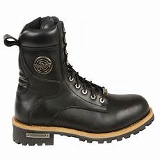 s motorbike boot leather lace to toe boot black