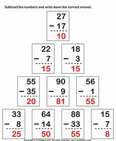 subtracting from two digit number worksheet turtle diary