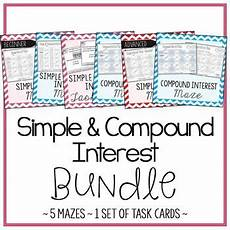 compound probability worksheets 7th grade 6017 simple and compound interest activities bundle 5 mazes and 1 set of task cards task cards