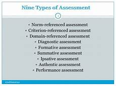 types of assessment 2