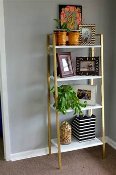 ikea etagere ikea shelf makeover white and gold