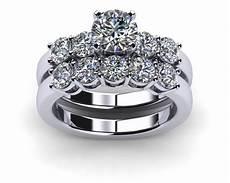engagement rings wedding sets platinum common prong five diamond engagement ring